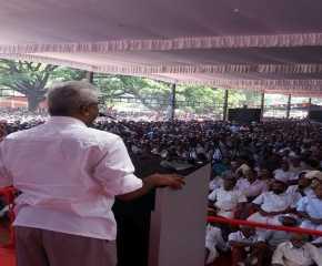 Srinivasa Rao Addressing the Meeting at Trissur
