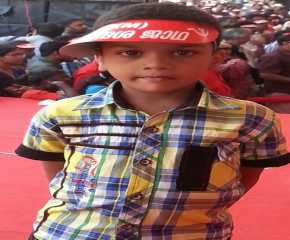 A Young supporter at Trissur