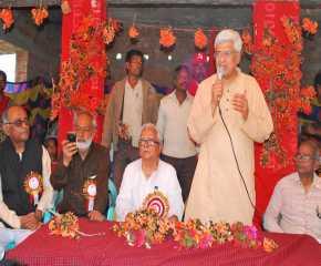 Prakash Karat at the Johna Meeting