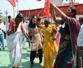 Dancing Women Proceeding to the Wardha Meeting