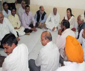 Gharsana Traders Meeting Jatha Leaders