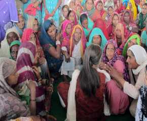 Women Meeting Brinda at Gharsana