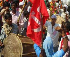Traditional Welcome to the Jatha at Prakasha