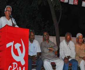 Biman Basu at the Lucknow Meeting