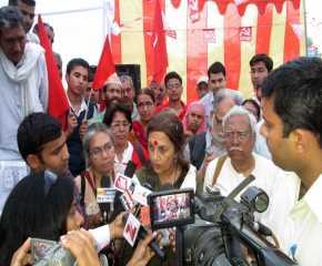 Brinda Karat Meeting the Press at Jhunjunu