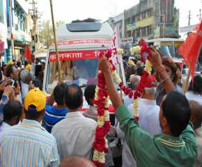The Jatha Being Received at Kanpur