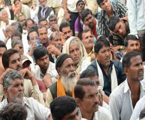 A Section of the Crowd at Indergarh, MP