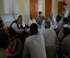 Meeting with Farmers at Tosham