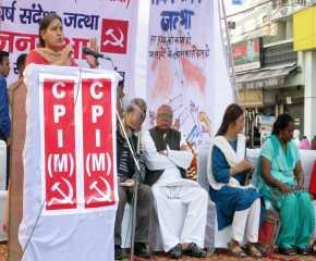 Jagmati Sagwan Addressing the Gurgaon Meeting