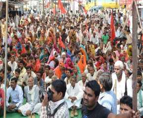 Crowd at the Meeting at Kailaras, Morena, MP