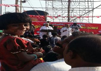 A child At the Inauguration of the Southern Jatha