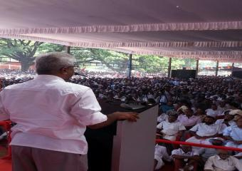 Srinivasa Rao Addressing the Meeting at Trissur