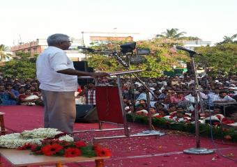 Srinivasa Rao Addressing the Meeting at Palakkad
