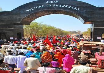 Jatha Entering Jharkhand
