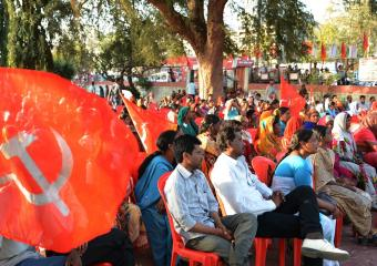 A Section of the Crowd at the Bhopal Meeting