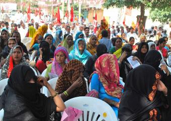 A Section of Women at the Etawah Meeting