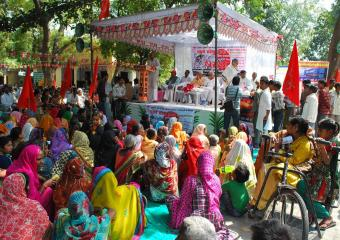 Women at the Etawah Meeting
