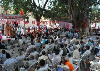 A Section of the Crowd at the Meeting at Etawah