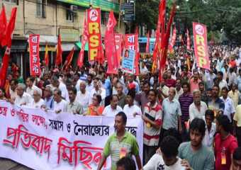 Koklata procession-Save Democracy in Bengal