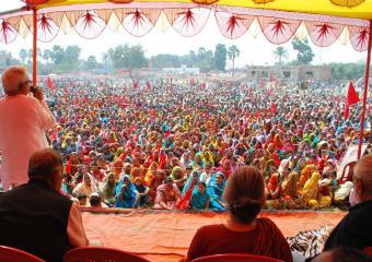 Biman Basu Addressing the Meeting at Bibhutipur