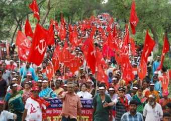 Massive rally in Sarisa, Diamond Harbour.