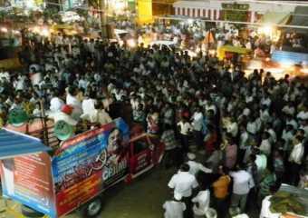 Public meeting in Bagepalli, Chikballapur