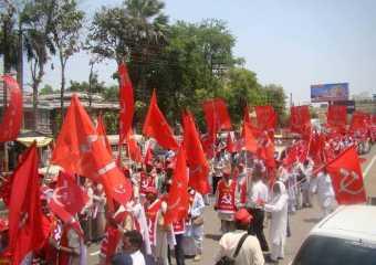 Rally in Varanasi in support of Com. Hiralal Yadav.
