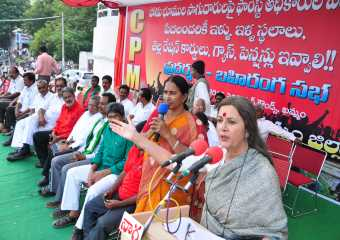 Brinda Addressing Tribal Rally in Khammam on Nov. 6, 2013