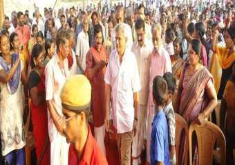 Com Sitaram Yechuri campaigning in Kerala