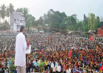 Com Surjo Kanta Mishra campaigning in West Bengal