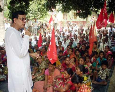 Com Md. Salim addressing public meetings in his constituency Raiganj