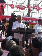 Prakash Karat at the Inauguration of the Southern Jatha
