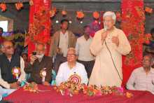 Prakash Karat at the Johna Meeting