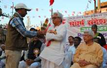 Biman Being Felicitated at Koderma