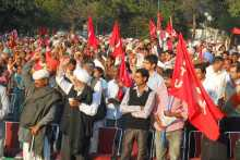 Section of the Crowd at Chandigarh