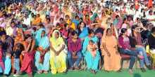 A section of the crowd at Chandigarh