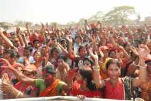 A Section of the Crowd at the Agartala Rally