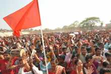 Crowd At the Victory Rally in Agartala