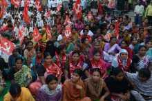 Women at the Kamareddy Meeting