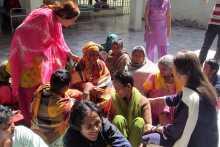 Brinda With Inmates of the Vai Kanhaiya Ashram