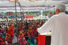 Prakash Karat at the Meeting at Mughalsarai