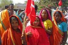 Tribal Women Going to Attend the Prakasha meetnig