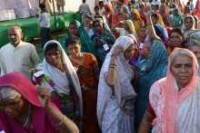 Women Reaching the Meeting Venue in Bhopal