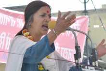 Brinda Karat Addressing the Meeting at Sikar