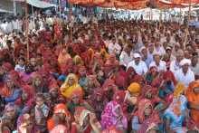 A Section of the Crowd at the Sikar Meeting