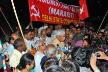 Prakash Karat Speaks at the Delhi Border