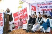 Hannan Mollah Addressing the Meeting at Gurgaon