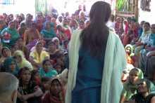 Brinda Addressing Women at Jhajjar