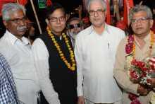 Western Jatha Leaders Being Received at AKG Bhawan