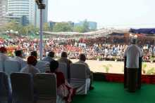 Prakash Addressing the March 19 Rally